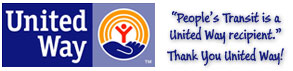 """United Way - """"People's Transit is a United Way recipient."""" Thank you United Way!"""