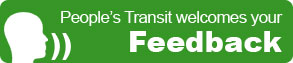 People's Transit welcomes your feedback!
